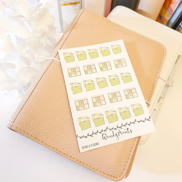Sticky Notes and Folders Icon Sticker, Planner Stickers (W94)