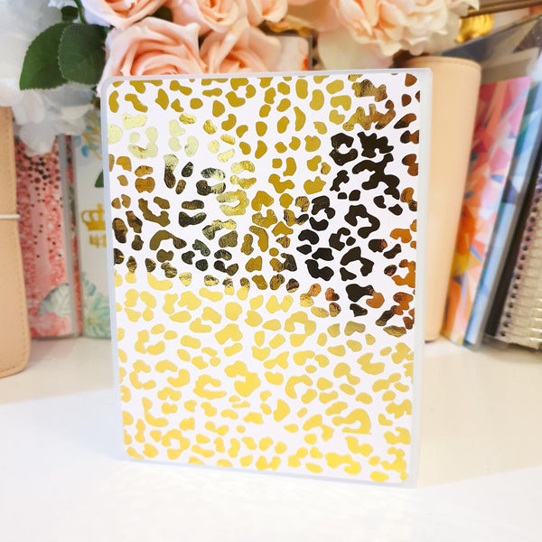 Cheetah LARGE (5x7 inches), Sticker Album (A26L) - WendyPrints