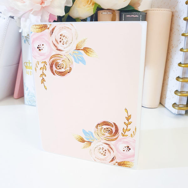 Blush Gold, MINI (4 x 6 inches), Sticker Album (A28M) - WendyPrints