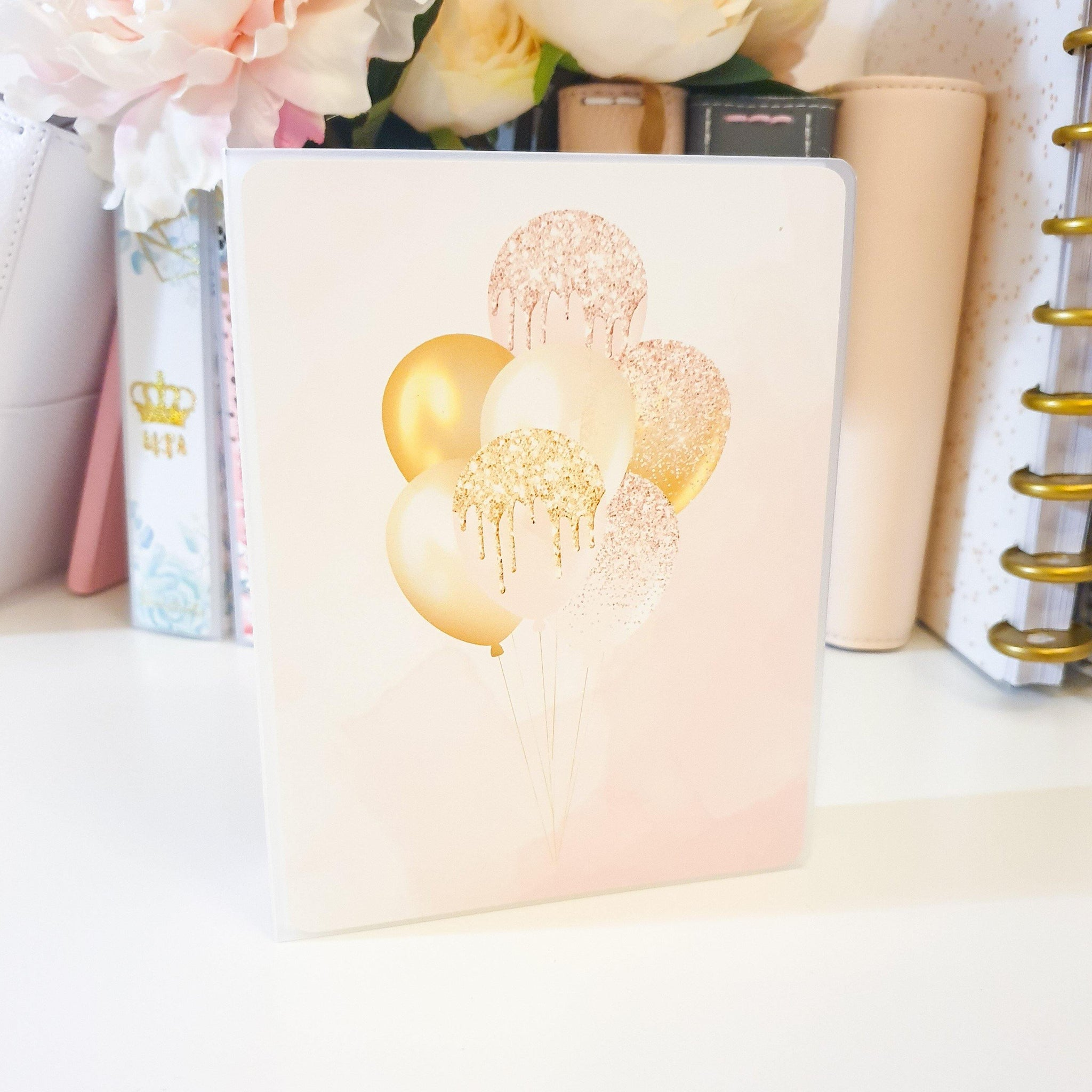Balloons, LARGE (5x7 inches), Sticker Album (A30L) - WendyPrints