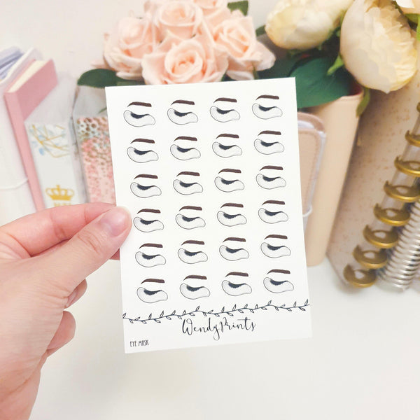 Eye Mask Icon Sticker, Planner Stickers (W46) - WendyPrints