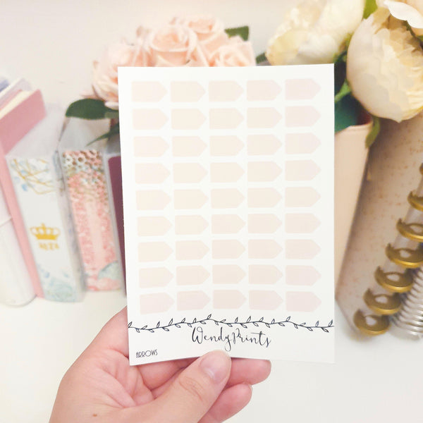 Blush Pink Arrow Sticker, Planner Stickers (W32)