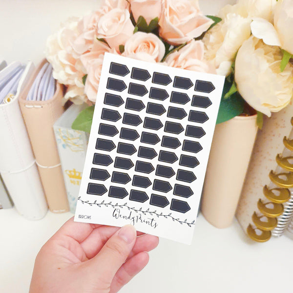 Black Arrow Sticker, Planner Stickers (W116) - WendyPrints