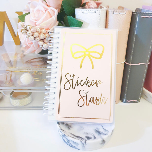 Sticker Stash, SMALL (4x6 inches), Foiled Reusable Sticker Book