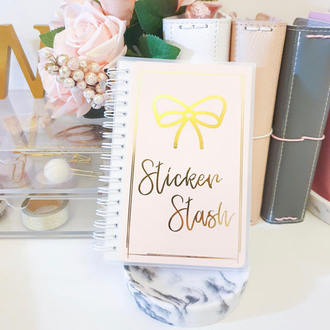Sticker Stash, LARGE (5x7 inches), Foiled Reusable Sticker Book
