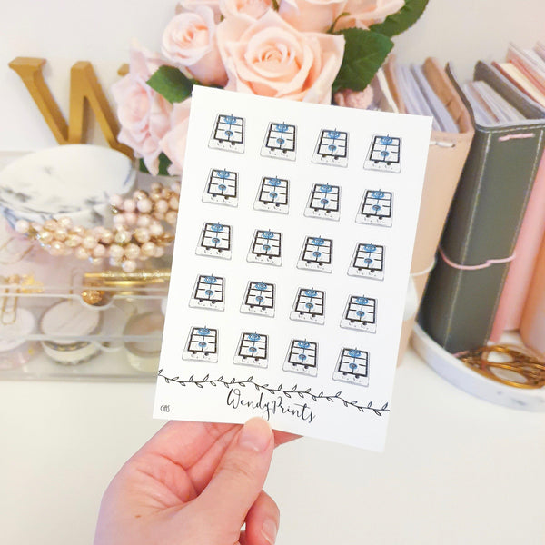 Gas Icon Sticker, Planner Stickers (W126) - WendyPrints