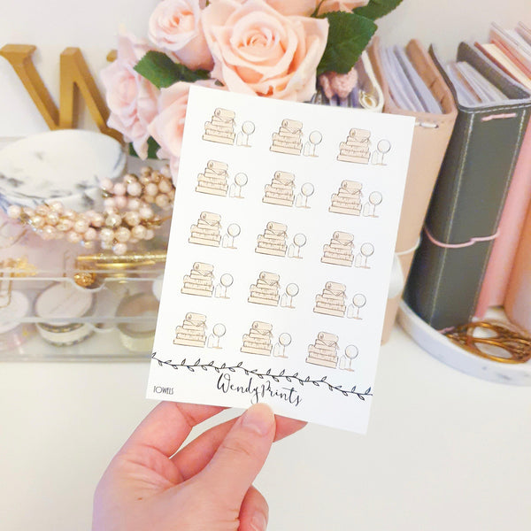 Towels Icon Sticker, Planner Stickers (W133) - WendyPrints