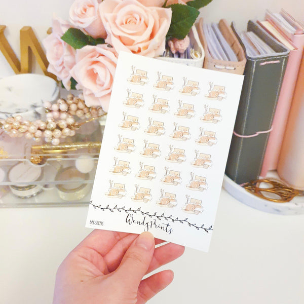 Bedsheets Icon Sticker, Planner Stickers (W134) - WendyPrints