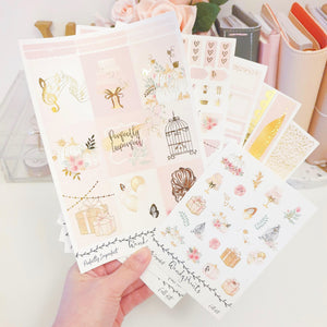 Perfectly Imperfect, Gold Foiled Weekly Kit (K82) - WendyPrints
