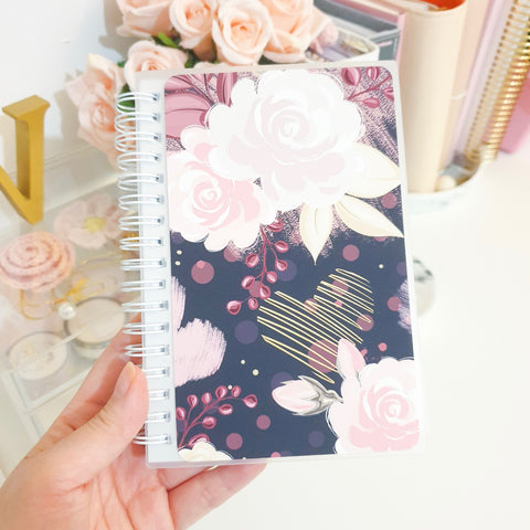 Dark Bloom, SMALL (4x6 inches), Reusable Sticker Book