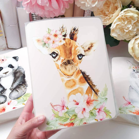 Giraffe, LARGE (5x7 inches), Sticker Album (A15L)