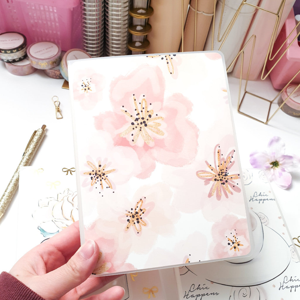 Pink Floral, LARGE (5x7 inches) Sticker Album (A10L)