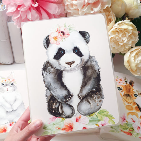 Panda, LARGE (5x7 inches), Sticker Album (A18L)