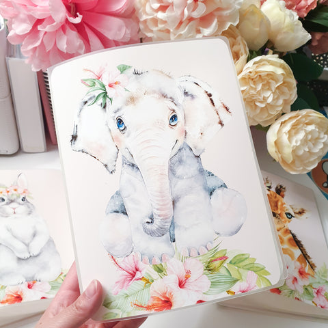 Elephant, LARGE (5x7 inches), Sticker Album (A16L)