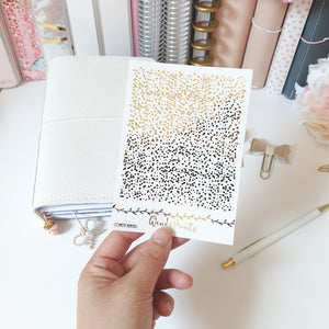 Confetti headers, Foiled Stickers (F20) - WendyPrints
