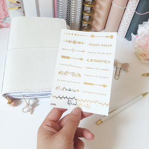 Dividers, Foiled Stickers (F10) - WendyPrints