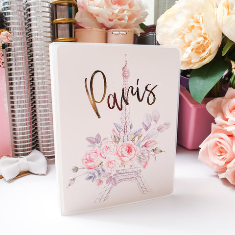 Paris, LARGE (5x7 inches) Foiled Sticker Album (A15L)