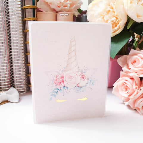 Unicorn Lashes, MINI (4x6 inches) Foiled Sticker Album (A14M)