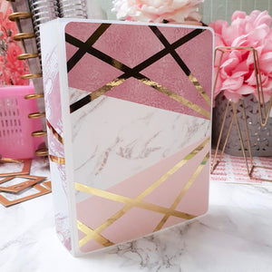 Pink Marble, MINI (4x6 inches) Foiled Sticker Album (A06M)