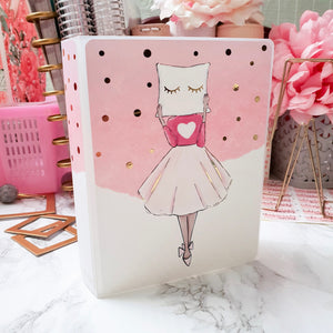 Pillow Girl, LARGE (5x7 inches) Foiled Sticker Album (A04L)
