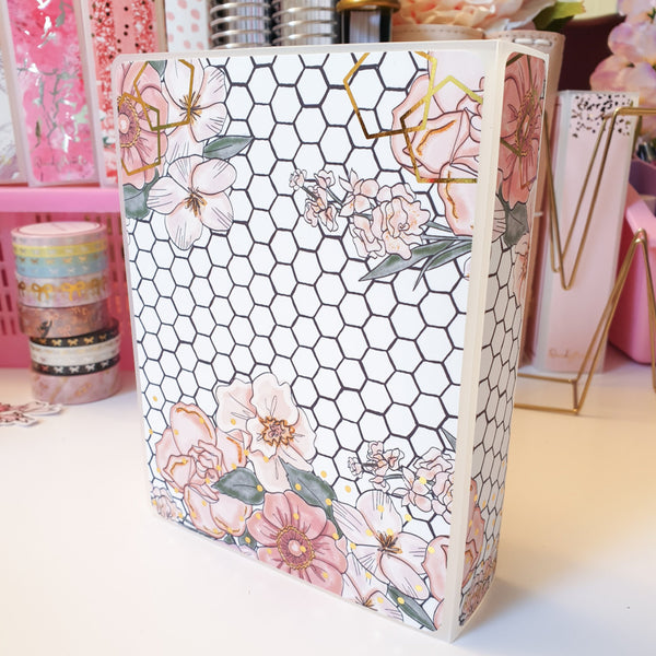 Honeycomb, LARGE (5x7 inches) Foiled Sticker Album (A08L)