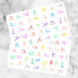 Yoga / Pilates, planner stickers (W37)