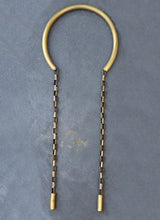 Bronze choker with big chain