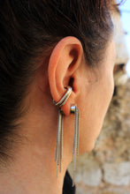 Load image into Gallery viewer, Bora Earrings - Sterling Silver Tassel Double Sided Earrings