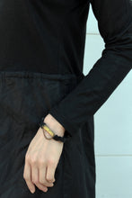 Load image into Gallery viewer, Kadi Bracelet - Big Onyx Stone Bracelet with Bronze - MERCe