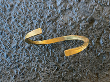 Load image into Gallery viewer, Remoli Bracelet- Raw Bronze Hammered Bangle