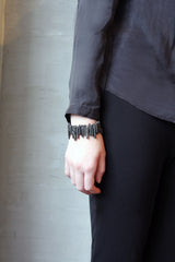 Terra Bracelet - Black Quartz Spikes Bracelet - MERCe