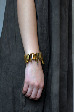 Terra Bracelet - Golden Quartz Spikes Bracelet - MERCe