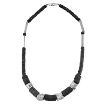 Load image into Gallery viewer, Ferro Necklace - Short Pyrite Necklace - MERCe