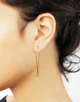 Bridge Earrings - Gold Ear Climbers - MERCe