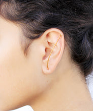 Load image into Gallery viewer, Bridge Earrings - Gold Ear Climbers - MERCe