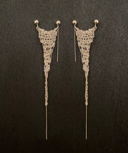 Load image into Gallery viewer, Tango Silver Earring - 925 Silver Chain Crochet Earring