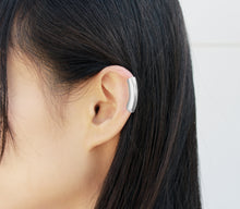 Load image into Gallery viewer, Tunnel - Silver Ear Cuff, Silver Helix Earring - MERCe