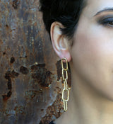Cadena Earrings - Big Chain Asymmetrical Earrings - MERCe