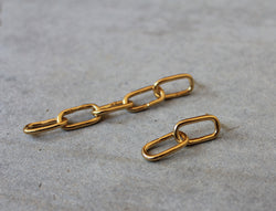 Big Chain Asymmetrical Earrings - MERCe