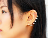 Arco Earring - Sterling Silver Ear Climber, Silver Ear Crawler - MERCe