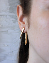 Monaco Gold Earrings - Double Sided Faceted Earrings - MERCe