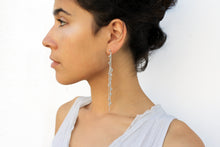 Load image into Gallery viewer, Punt Earrings - Long Silver Earrings - MERCe