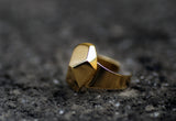 Hema Gold Ring - Gold Coated Geometric Ring - MERCe
