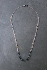 Sterling Silver Crochet Necklace - Acid White Necklace