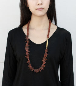 Brick Necklace - Volcanic Lava Rock Necklace - MERCe