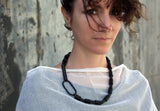 Cero Necklace - Black Onyx and Lava Necklace - MERCe