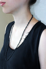 Oxidized Sterling Silver Chain Necklace - MERCe