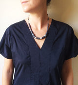 Ferro Necklace - Short Pyrite Necklace - MERCe