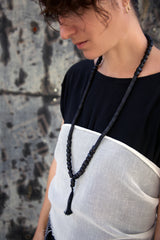 Musa - Gothic black seeds necklace