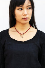 Rosa Necklace - Red Agate Necklace - MERCe